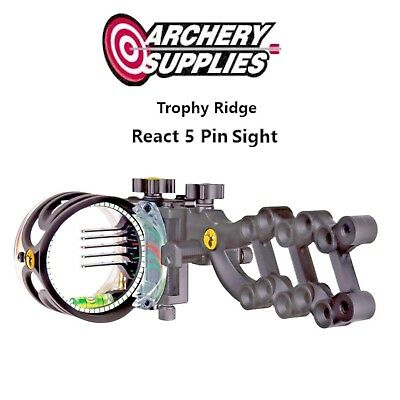 Trophy Ridge React Sight 5 Pin - Black - Right Hand