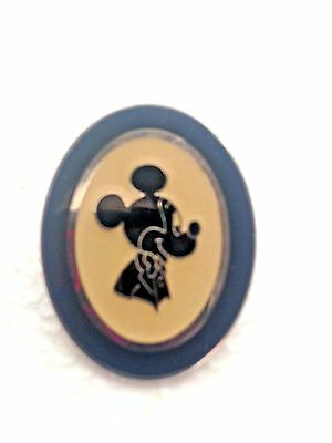 Disney Pin Mickey Mouse Oval Silhouette