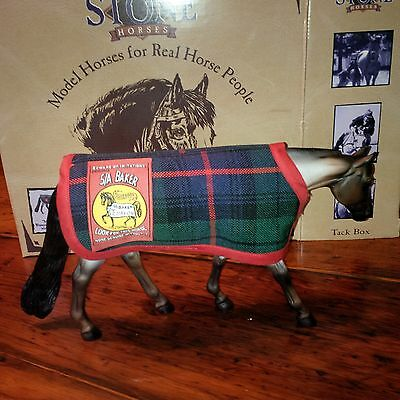 "New ""Retired"" Peter Stone Limited Edition Horse Figurine with Baker Blanket"