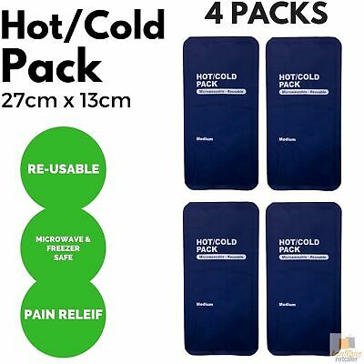 4x HOT COLD PACK First Aid Reusable Ice Heat Gel Packs Microwaveable Relief BULK
