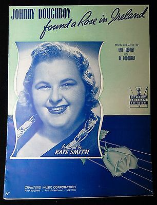 Johnny Doughboy Found A Rose In Ireland Featuring Kate Smith 1936 Sheet Music
