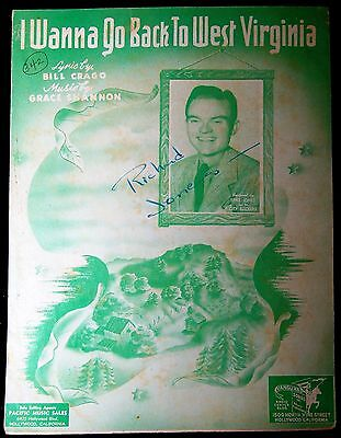 I want to Go back to West Virginia - Bill Crago, Grace Shannon 1942 Sheet Music