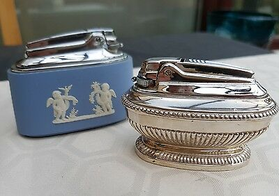 Twi vintage table lighters Ronson and Wedgwood