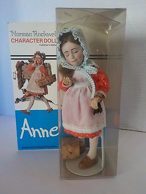 "NORMAN ROCKWELL ANNE Character Doll Collectible Figurine NEW IN BOX 9.5"" Tall"