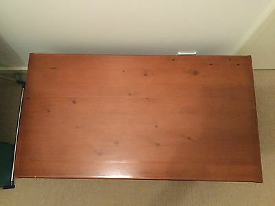 Gaylard Solid Timber Wooden Trunk 2 Sturdy Swing Metal Handles Hinged Lid Chest