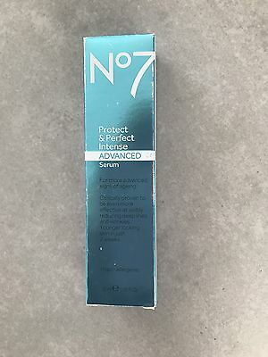 No7 Protect And Perfect Intense Advanced Serum 30ml New Boxed