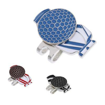 Portable Alloy Golf Bag Pattern Magnetic Golf Ball Marker with Hat Clip