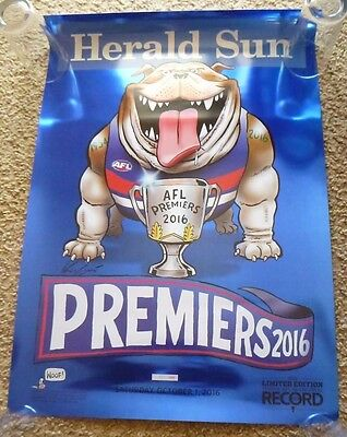 2016 Limited Edition Grand Final Poster Western Bulldogs