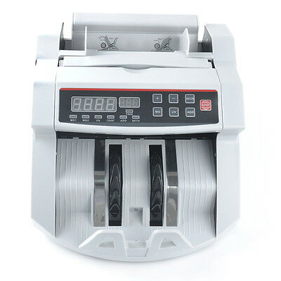 USA 110V Cash Bill Counter Money Currency Counting Bank Machine Counterfeit