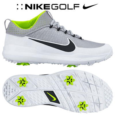 Nike Fi Premiere Golf Shoes Mens Size 8 Silver White Volt Black 835421-001