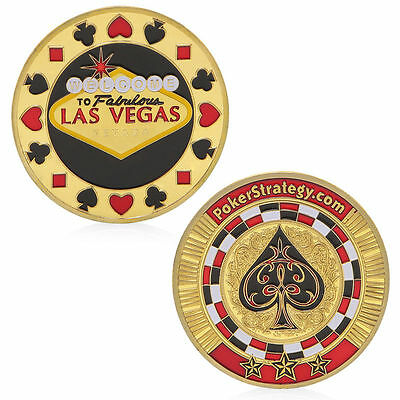 Poker Spade Lucky Chips Golden Commemorative Challenge Coin Collection Gift