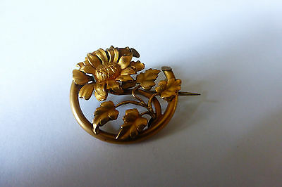 Broche Ancienne Plaque Or