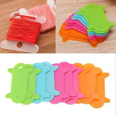 10Pcs Embroidery Floss Craft Thread Bobbin Plastic Cross Stitch Storage Holder