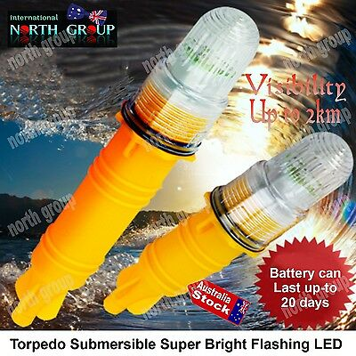 Submersible Super Bright Led Signal Light Fishing Tackle Safety Lights Float