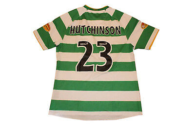 Match Issue Hutchinson #23 Celtic 2009/2011 Home Authentic Vintage Jersey. Large