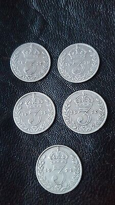 George V silver three pence 1917-21
