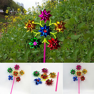 2pcs Colorful Plastic Pinwheel Wind Spinner windmill Wedding Kid Party Supplies
