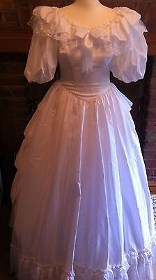 Vintage Pronuptia 80's Bo Peep Style  Wedding Dress, Veil & Hooped Petticoat