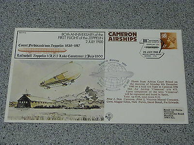 Royal Air Force FDC RAF FF 18  The 80th anniversary of the 1st Zeppelin flight