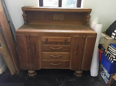 Vintage Antique Soild Oak Dresser
