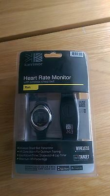 Karrimor Heart Rate Monitor With Wireless Chest Belt Black A321