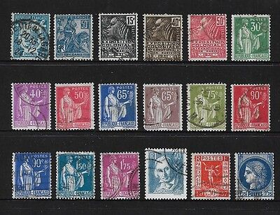 FRANCE - mixed early collection, 1924-1938