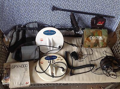 MINELAB GPX-4000 DETECTOR, good used working condition, prospecting, 2 Coils.