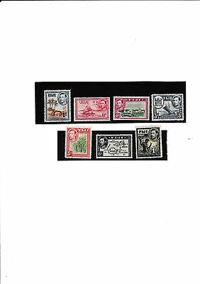 Fiji KGVI 1938 Small Collection (7) Stamps Mint Lightly Hinged