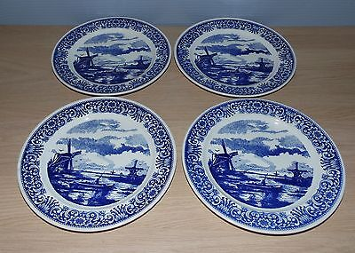4 Assiettes Boch Manufacture Royal La Louviere Diametre 24.5