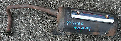 Yiying Tommy 50 2008 08 Complete Exhaust System End Can Silencer Pipe