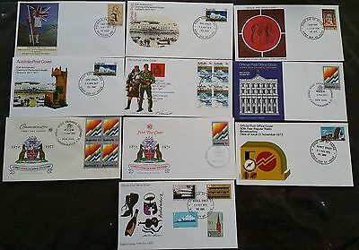 10 x Australia First Day Covers 1971-1977