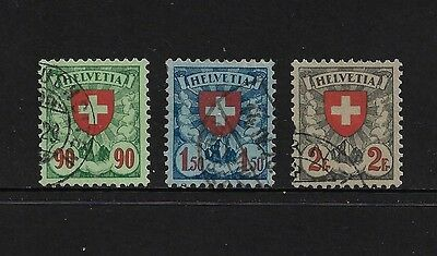 SWITZERLAND - 1924 Arms, Cross, Shield, 3 of 4, used