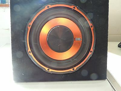 In car stereo and sub woofer