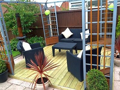 "2.4m x 3.6m garden decking kit ""CHECK POSTCODES FOR FREE DELIVERY"""