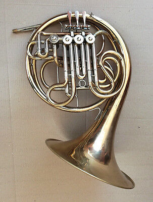 Vintage Brass Pipe French Horn Josef Lidl Brno