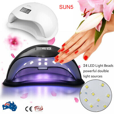 SUN5 48W LED UV Nail Lamp Lights Gel Polish Dryer Manicure Art Curing AU Plug