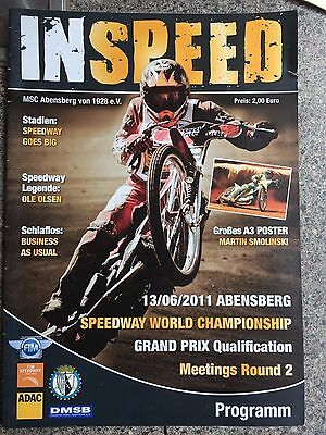 Speedway programme Germany World Championship qualifying 13th June 2011