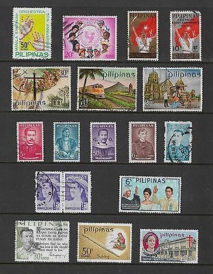 PHILIPPINES - mixed collection No.9, incl opt & joined pair
