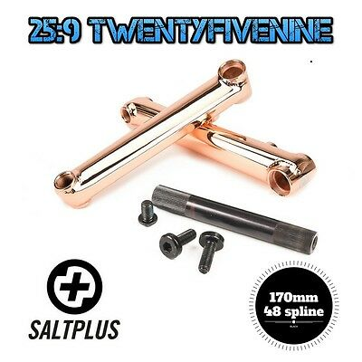 Salt Pro Bmx 3 Piece Cranks Set 19mm Spindle 170mm 48 Spline COPPER