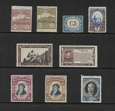 SAN MARINO - mixed early collection, from 1903-1930s