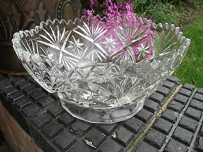 Trifle / Fruit Bowl Centrepiece - Art Deco / Mid Century Clear Glass Pedestal