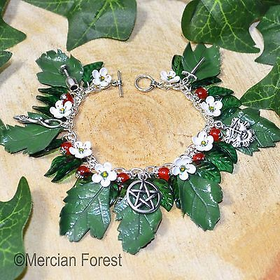 Maying Hawthorn Bracelet - Pagan Jewellery, Wicca, Beltane, May Day, Summer