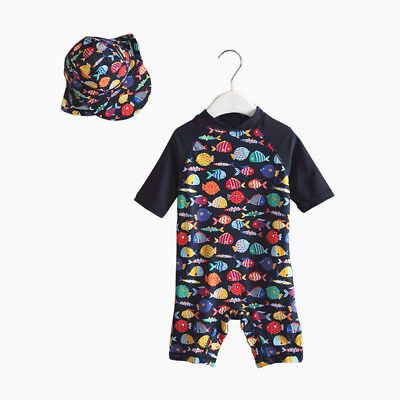 Bonverano Baby & Toddler Boy's UPF 50+ Sun Protection Short Sleeve Swim Suits