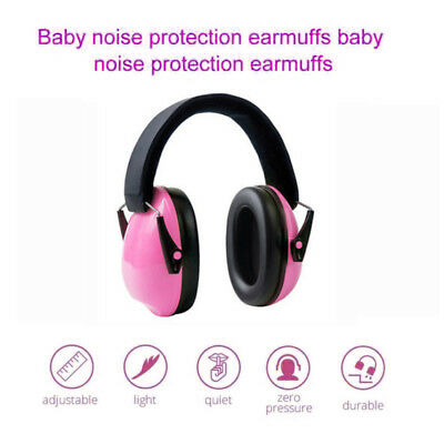 NEW! Baby Earmuffs Soft Cup Ear muffs kids babies infant Hearing Protection Pink