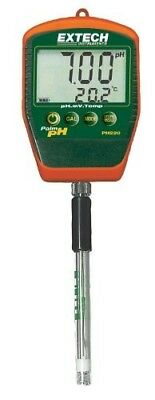 Extech PH220-S pH Meter/Palm pH with Stick Electrode