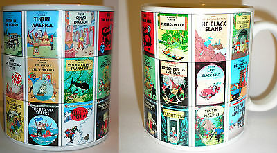 Tintin Mug every Herge book cover great gift