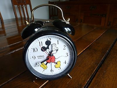 Lorus Quartz Mickey Mouse ringing bell alarm clock - Disney