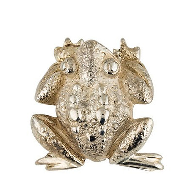 Vintage Tiffany & Co. Rare Sterling Silver 925 Frog Brooch Pin, Authentic