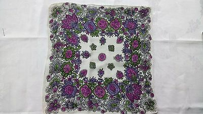 ladies vintage handkerchief 1940's.