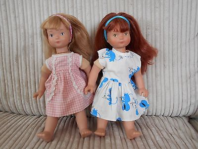Dolls, soft body Moulin Roty Alice Blonde hair , Louise Red Hair, from France